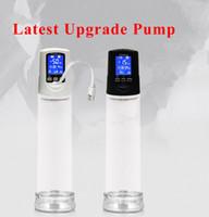 LCD-vätskekristall USB-laddare elektrisk penispump, stark USB-uppladdningsbar automatisk penisförstoring