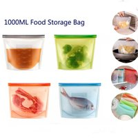 Food Grade Reusable Silicone Vacuum Food Fresh Bags Wraps Fr...