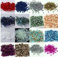 Chaude ~~ 4mm 1000pcs / lot Bicone 5301 Cristal Autrichien perles Perle Spacer Perle pour DIY Bijoux Making U choisir des couleurs