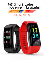 F07 0.96 OLED Schermo a colori Bluetooth Smart Band Bracelet IP68 Impermeabile Swim Heart Rate Smartwatch Orologio da fitness per Android iOS