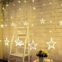 Luzes de Natal levou 2.5 M luzes de fadas String Luz Decoração Guirlanda Lâmpada para Casa de Casamento AC110V ou 220 V Holiday Iluminação Estrela Cortina