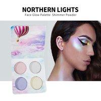 HANDAIYAN Chamäleon Highlighter Palette Gesicht Contour Makeup Hervorhebungen Bronzer Glow Aurora Shimmer Lidschatten kosmetische Kit