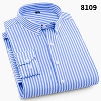 2018 Mens Business Casual Long Sleeved Shirt Men 4XL Plus Si...