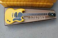 مصنع مخصص للتسوق 2015 أحدث الأصفر 1 التقاطات القياسية s g الغيتار الكهربائي شحن مجاني (هاي 4