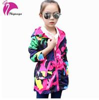 Meninas Blusões Casacos Para Meninas Primavera Outerwear Com Capuz Trench Coat Para Meninas Moda Crianças Casaco Crianças Jaqueta Para A Menina Quente