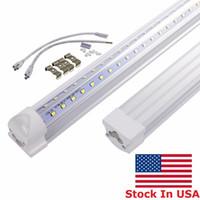 T8 LED가 튜브 조명 2피트 3피트 4피트 5피트 6피트 통합 V - 모양의 주도 빛 튜브 램프 AC 110-240V를 8 피트