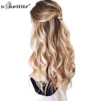 SNOILITE 24inch 8pcs / set retas 18 clipes em False Synthetic Hair Styling Hair Extensions peruca Cosplay Extension for Human