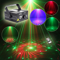 LED RG Home Stage Lichteffekt 40 Muster Sterne Laser Projektor mit Fernbedienung Lumiere Disco Lights DJ Party Stage Light
