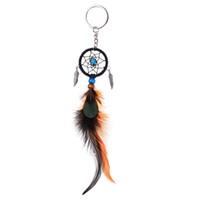 드림 캐쳐 바람 종소리 꿈의 포수 키 체인 깃털 개의 Tassels 펜던트 키 체인 여성 빈티지 스타일 열쇠 고리 선물