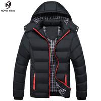 Novela ideas hombres invierno chaqueta abrigos masculinos cálidos moda gruesa termal hombres parkas ropa casual tamaño M-4xl