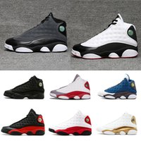 2018 shoes 13s black cat man basketball shoes red bred He Go...