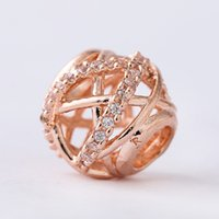 5 pcs lot Genuine rose gold galaxy charms beads fits pandora...