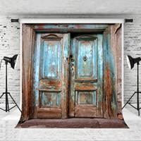 الأزرق الخشب الباب خلفية للتصوير خلفية 5x7ft الفينيل ريترو قديم الباب صورة خلفية استحمام الطفل حفلة عيد صور بوث ستوديو