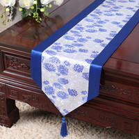 Latest Long Luxury Silk Fabric Table Runner Dining Table Mat...