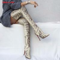 Schuhe 2018 New Fashion Glitter Stoff Frauen Stretch Oberschenkel Stiefel Sexy Spitze Zehen Damen Overknee High Heel Stiefel Socken Stiefel Vertrieb Von QualitäTssicherung