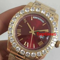 Sweep Second Hand Gold Big Diamond Luxury Brand Iced Out Wat...