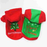 Noel Kırmızı Pet Köpek Giysileri Tulum Köpek hoodie Ceket Ceket Giyim Sevimli Yavru Kostüm Chihuahua Teddy Kedi Köpek Hoodie için
