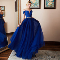 2018 Cheap Long Prom Dresses A Line Spaghetti Lace Up Royal ...