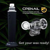 100% CPENAIL ORIGINAL DAB KITS 1100MAH Cuarzo H Nail Dab Rig GR2 TI Titanio puro Vaporizador portátil Vaporizador de vaporizador de vidrio de vidrio eléctrico Kit