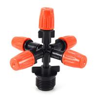 """1/2 """"Orange fünf Outlet einstellbare Zerstäuber Sprinkler lange Lebensdauer Garten Micro Bewässerung Spray Düse"""