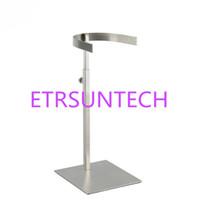 Stivali alti in acciaio inossidabile con supporto per stivali con superficie opaca, stivali alti per desktop, espositori da tavolo, espositori QW8226