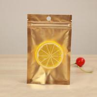 100 piezas de oro claro del papel de aluminio bolsa de la cremallera del sello auto Ziplock bolsa de embalaje de productos alimenticios al por menor puede volver a sellar la bolsa para hornear Embalaje Bolsita