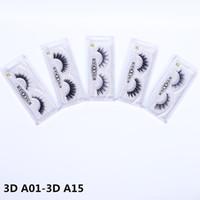 DHL бесплатная доставка 3DA01-3DA15 3D норки ресницы расширение полосы ресницы толстые накладные ресницы полная полоса ресницы черный накладные ресницы