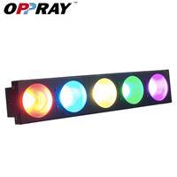 4 teile / los Hohe Qualität Blinder Effect Lichter 5 x 10W 3in1 RGB LED Bühnenlicht Matrix Waschen DMX512 für DJ Disco Bar Beleuchtung