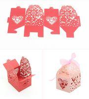 Caja del caramelo del chocolate del rectángulo del caramelo del estilo europeo Caja de la boda Titulares del favor