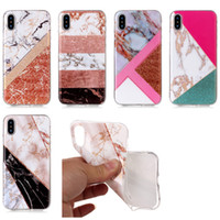 Bling Marble Natural Stone Rock Hybrid Soft TPU IMD Case For...