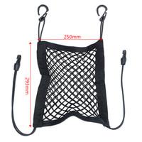 Elastik Araba Koltuğu Saklama Çantası Organizatör Şişe Doku Şemsiye Tutucu Asılı Çanta Cep Siyah Hooks ile Otomatik Mesh Net Bagaj