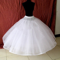 Cheap Sale Stock 8 Layers Exquisite White Ball Gown Petticoa...