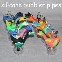 1 piezas Mini fumar marcianos Bongs de viaje La silicona marciana Blunt Bong Bubbler Joint Smoking Bubble Tubo de agua pequeño Cráneo Tubos Tubo de mano