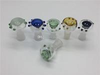 Glasschüssel Tabak und Kräuter Dry Bowl Slide für Glas Bong Pfeifen 14mm 18mm männlich weiblich Joint Glasschüssel für Wasser Bongs Pfeife