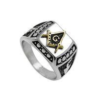 Оптовая титана стали масонское кольцо мужские новые ювелирные изделия литья Моды личности кольцо для Бесплатная доставка ювелирные изделия для Бесплатная доставка