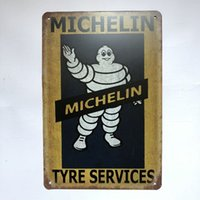Michelin Tyre Service Vintage Rustic Home Decor Bar Pub Hote...