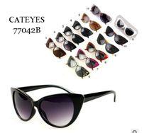 Новые Женщины Cat Eye Солнцезащитные очки Мэтт Черный Бренд Дизайнер Cateye Солнцезащитные Очки Для Женщин Подсвет очки UV400