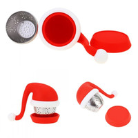 Christmas hat tea maker creative silicone tea leak anti- agin...
