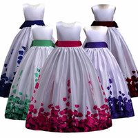 Teens Girls party dress Kids Girls elegant Wedding Flower Gi...