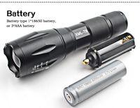 Nuevo potente X800 LED Flashligh CREE XM-L2 8000 lúmenes LED Antorcha Zoomable Linterna LED Lámpara + batería + cargador G700 Linterna
