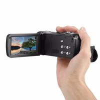 Freeshipping Portable Night Vision FHD 1920 x 1080 Caméra de caméscope numérique à écran tactile LCD de 18 pouces de 24X