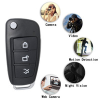 8 GB Bellek Dahili HD Araba Anahtar Kamera 1920 * 1080 P Full HD Araba Anahtarı Kamera Anahtarlık Gece Görüş IR Işık Hareket Algılama PQ193