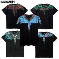 T-shirt IUURANUS Wings Donna Uomo Donna Italia Marcelo Burlon T-Shirt RODEO MAGAZINE MB Top Tees Moda Marcelo Burlon T-shirt