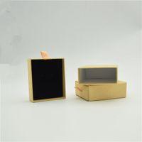 12 unids 8 * 7 * 3 cm caja de papel de Kraft joyería caja de almacenamiento de jabón de la boda caja de CandyJewelry