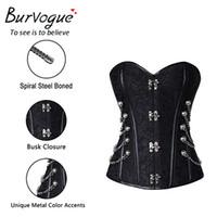Burvogue Steampunk Korse Bel Kontrol Seksi Korseler Ve Bustie Çelik Kemik Korse En SFT Gotik Büstiyer Korse Artı boyutu İyi
