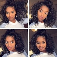 Short Curly Human Hair Lace Wigs Deep Curly Short Human Hair...