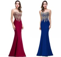Summer Sheer Formal Evening Gowns Sexy Illusion Crew Neck Cr...