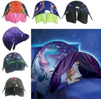 Kid Baby Dream Tent Fantasy Foldable Unicorn Moon White Clou...