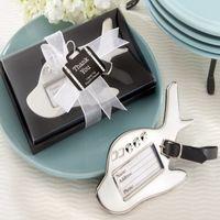 결혼식 호의 목적지 사랑 크롬 수하물 태그 교사 선물 결혼 선물 파티 장식 패션 비행기 태그 50 PCS / LOT