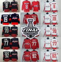 2018 Stanley Cup Finals Stadium Series Eishockey Washington Capitals 8 Alex Ovechkin 19 Nicklas Backstrom Trikots TJ Oshie 92 Evgeny Kuznetsov